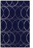 rug #706653 |  blue-violet circles rug