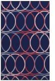 rug #706661 |  pink circles rug