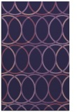 rug #706665 |  blue-violet geometry rug