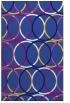 rug #706673    blue-violet retro rug