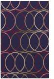 rug #706677    blue-violet circles rug