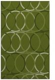 rug #706693 |  green circles rug