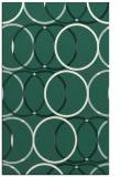 rug #706701 |  blue-green retro rug