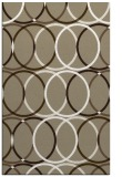 rug #706709 |  mid-brown circles rug