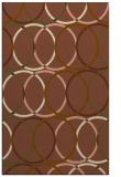 rug #706713 |  brown circles rug