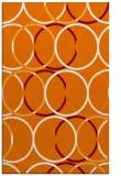 rug #706761 |  orange circles rug