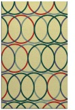 rug #706773 |  yellow circles rug