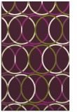 rug #706797 |  purple circles rug