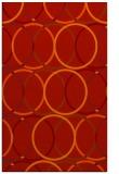 rug #706813 |  orange circles rug