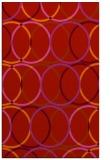 rug #706821 |  pink retro rug