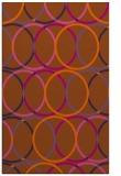 rug #706833 |  red-orange geometry rug