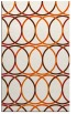 rug #706837 |  red-orange circles rug