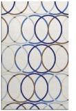 rug #706849 |  blue circles rug
