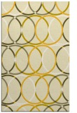 rug #706857 |  yellow circles rug