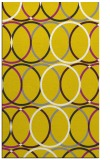 rug #706869 |  yellow retro rug