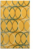 rug #706873 |  yellow circles rug