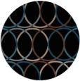 rug #706937 | round brown retro rug