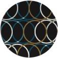 rug #706941 | round mid-brown retro rug