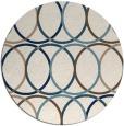 rug #706945 | round white retro rug