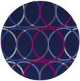 rug #706949 | round pink retro rug