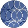rug #706961 | round blue circles rug