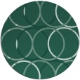 rug #706977 | round blue-green geometry rug