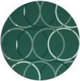 rug #706977 | round blue-green retro rug