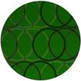 rug #706989 | round green popular rug
