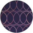 rug #707017 | round purple retro rug