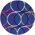 rug #707025 | round blue-violet retro rug