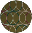 rug #707041 | round mid-brown retro rug