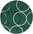 rug #707053 | round blue-green geometry rug