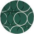 rug #707053 | round blue-green retro rug