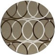 rug #707061 | round mid-brown retro rug
