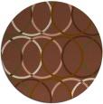 rug #707065 | round mid-brown circles rug