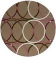 rug #707073 | round beige circles rug