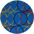 rug #707089 | round blue retro rug