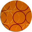 rug #707109 | round orange popular rug