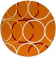 rug #707113 | round orange geometry rug