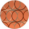 rug #707121 | round red-orange circles rug