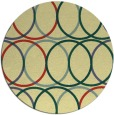 rug #707125 | round yellow circles rug