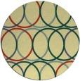 rug #707125 | round yellow geometry rug