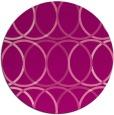 rug #707129 | round pink retro rug