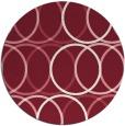 rug #707133 | round pink circles rug