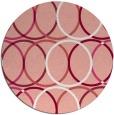 rug #707141 | round pink rug