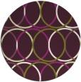 rug #707149 | round green geometry rug