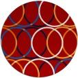 rug #707161 | round red retro rug