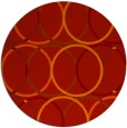 rug #707165 | round red circles rug