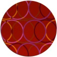rug #707173 | round red circles rug