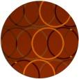rug #707177 | round red-orange retro rug